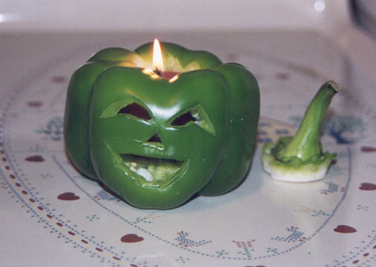 green pepper carved